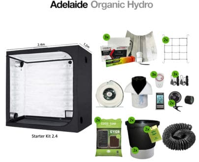Hydroponic Tent Kit - Starter Kit 2.4 - Hydro Supplies - Adelaide Organic Hydro Australia
