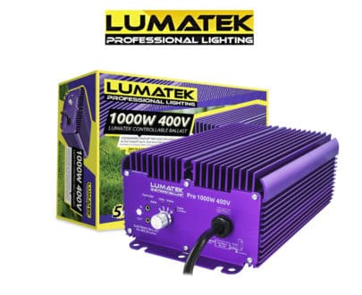 Lumatek Pro 1000W 400V Controllable Ballast Hydroponic Grow Lights