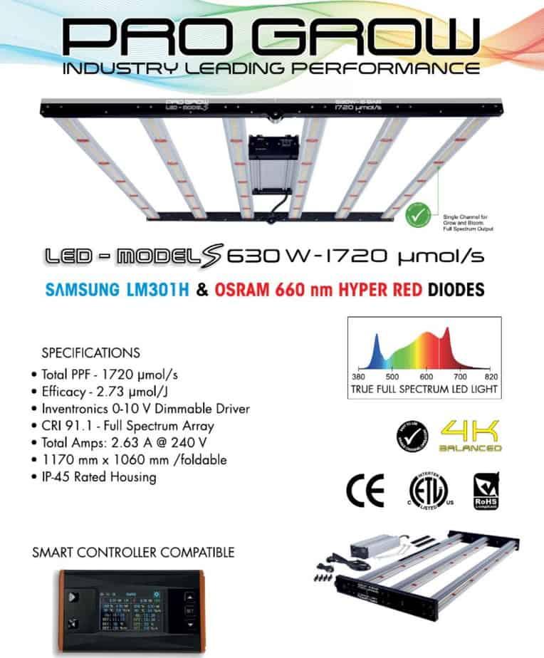 Pro Grow LED Grow Lights Hydroponics