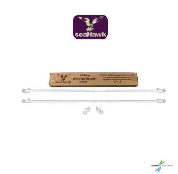 Seahawk Hi-Flow Tent Support Poles 2 x 120cm with Fittings Hydroponic Supplies Australia
